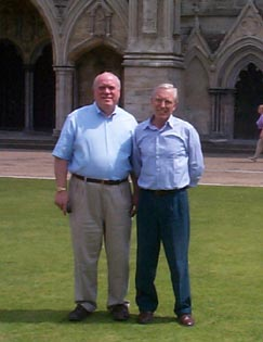 John and Larry in front of the cathedral